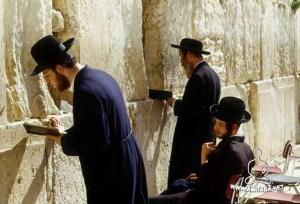 Gerusalemme Muro del pianto Ebrei ortodossi al muro