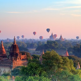 Le mille pagode di Bagan  Emozioni in mongolfiera