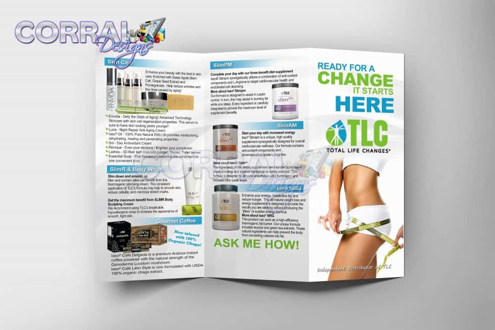 TLC TriFold Product Brochures \u2013 Corral Designs