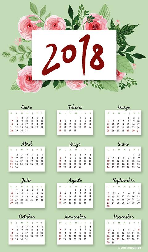 Calendarios 2018 para imprimir, en casa o el trabajo con tu impresora