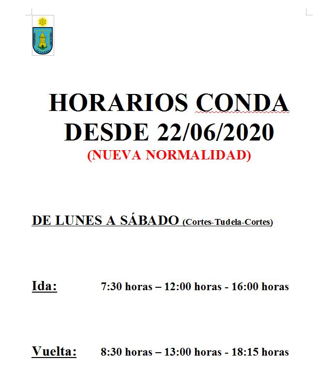 2020-06-22 19_50_26-Horario Conda desde 22-06-2020.doc - LibreOffice Writer