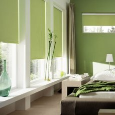 Cortinas Black Out verde palido