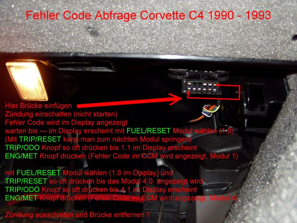 Chevrolet Corvette C4 Diagnose System