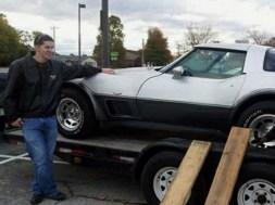 Enon resident Joshua Gierke with his family's 1978 Chevy Corvette.