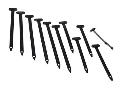 73 Engine And Wire Tie Strap Kit - 10 Pieces Corvette Central