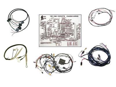 61 Wire Harness Kit - Manual Transmission Corvette Central