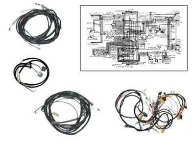 57 Fuel Injection Manual Transmission Wire Harness 1957 Late