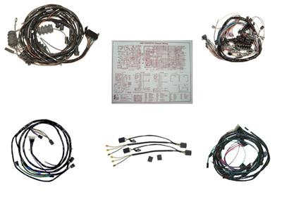 65 Wire Harness Kit - Convertible Manual With Back Up Light