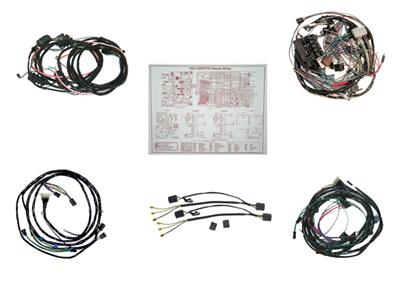 64 Wire Harness Kit - Convertible Manual With Back Up Light