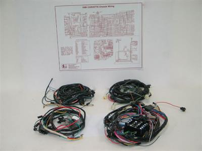 74 Wire Harness Kit With Air Conditioning - 454 Manual Transmission