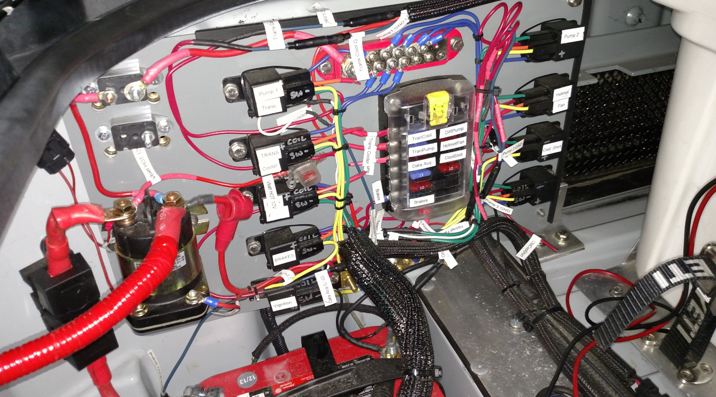 drag car wiring diagram with relay