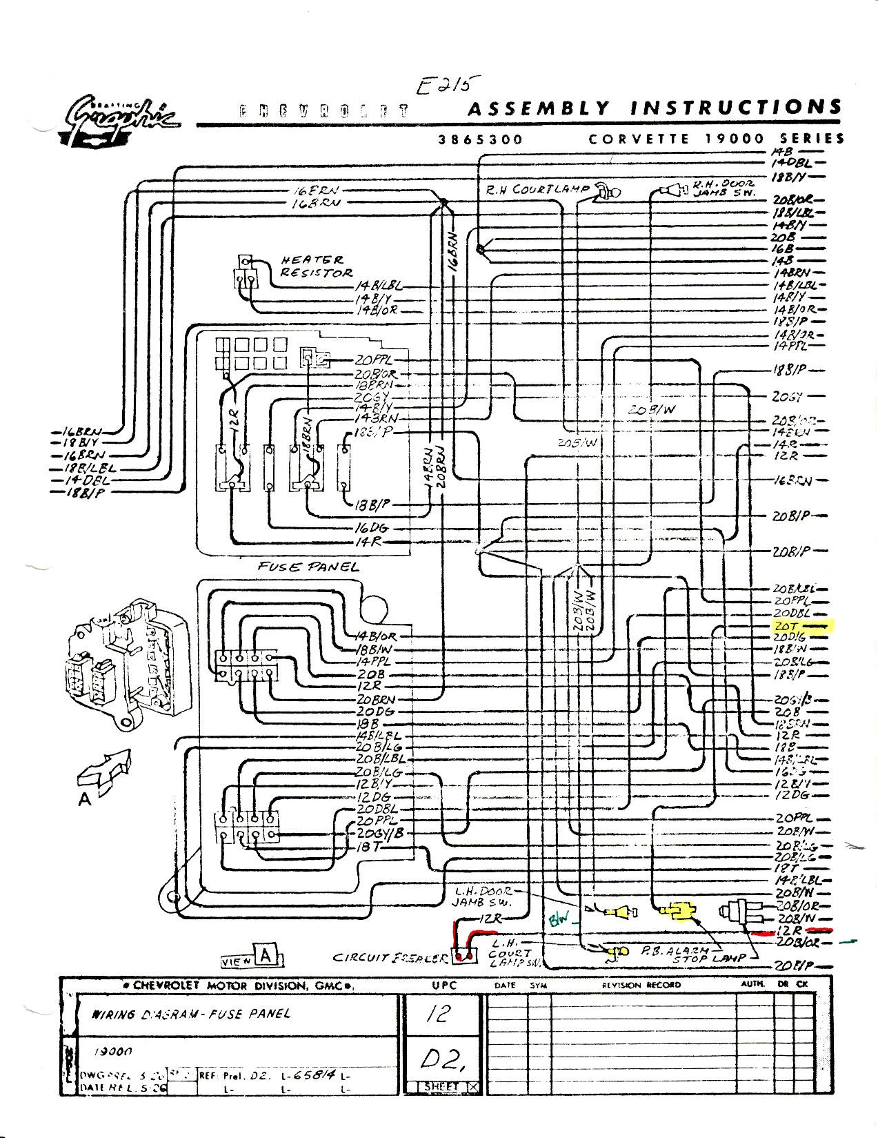 c4 corvette dash wiring diagram
