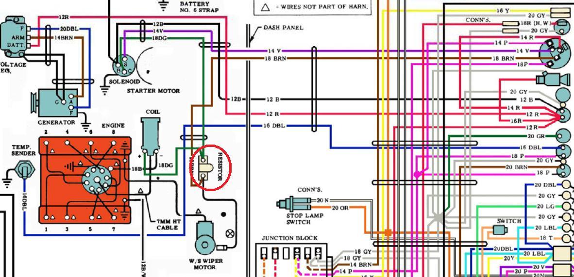 1969 corvette starter wiring diagram