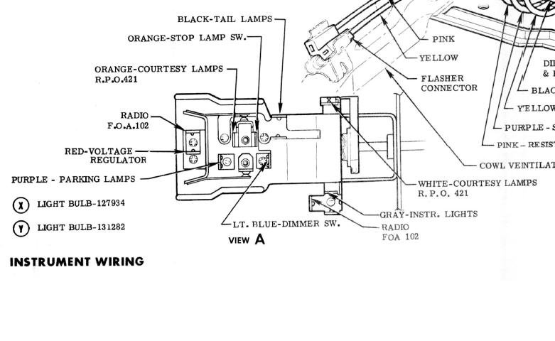 1956 ford truck headlight switch wiring diagram