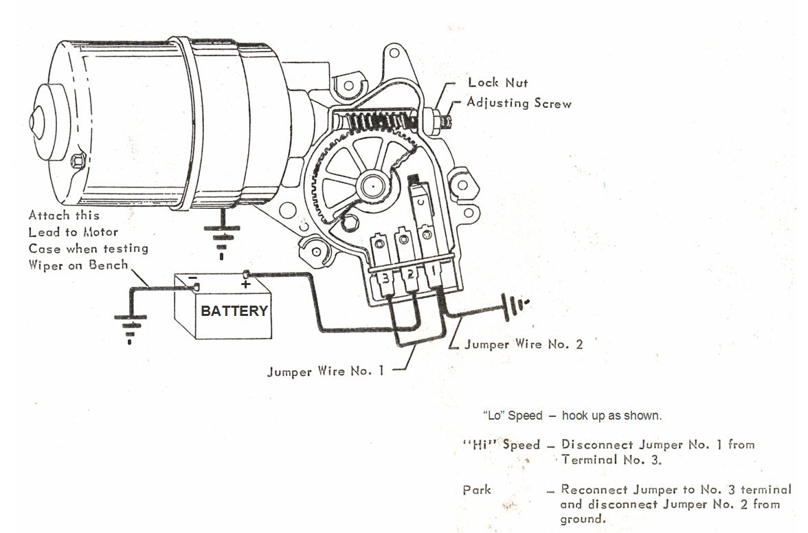 1971 corvette wiper motor wiring diagram