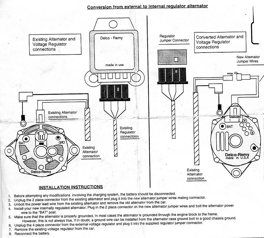 65 chevy alternator wiring diagram