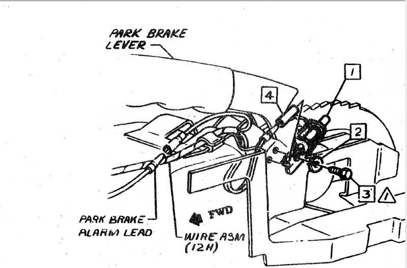 parking brake handle diagram