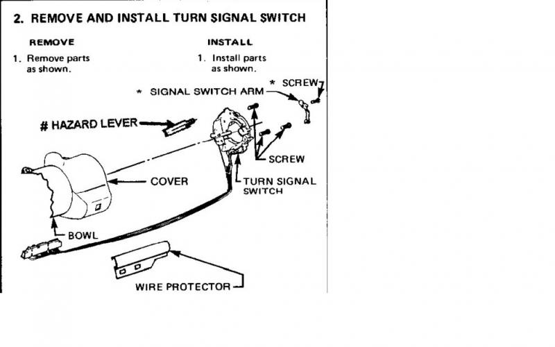 thread immobiliser and hazard switch linked