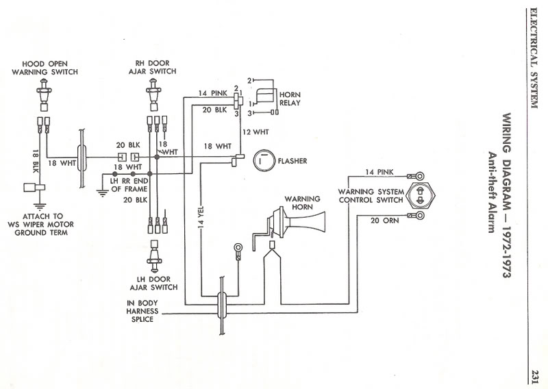 1976 corvette alarm wiring diagram