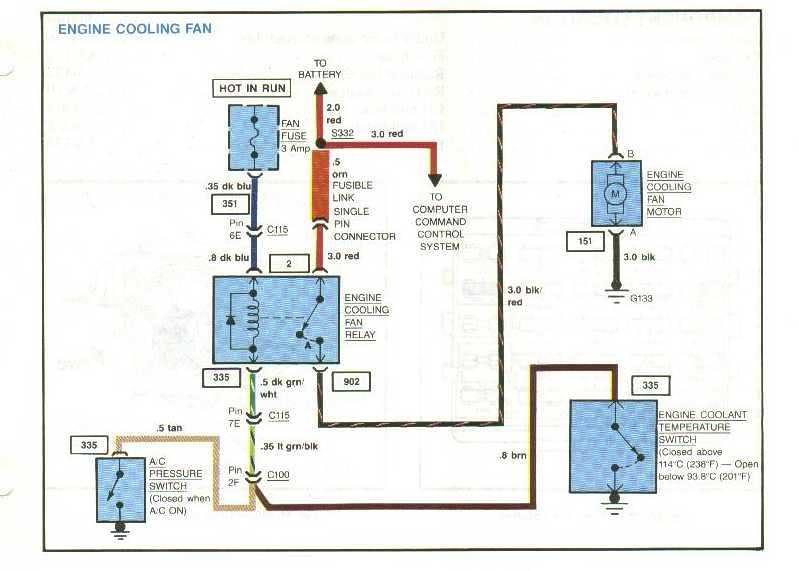 1984 corvette cooling fan relay wiring diagram