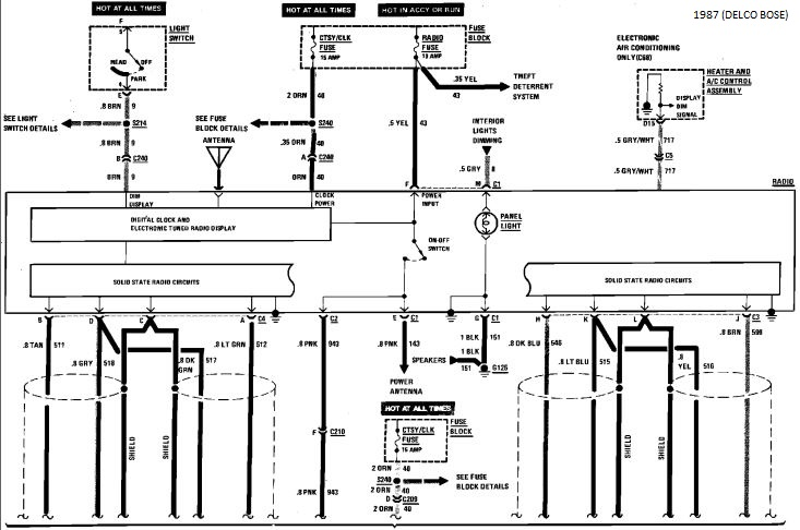 bose wiring diagram for 1987 corvette