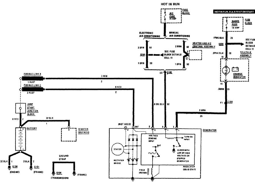1984 corvette wiring diagrams fusible link