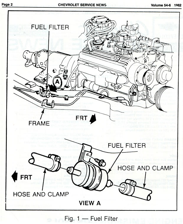 lt1 fuel filter location
