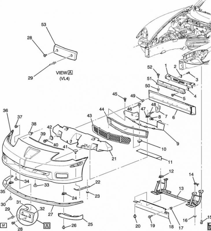 c6 corvette parts diagram