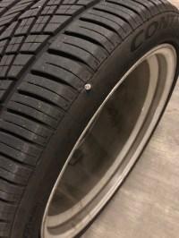 Worst spot for a nail..Road hazard warranty...Tire Rack ...