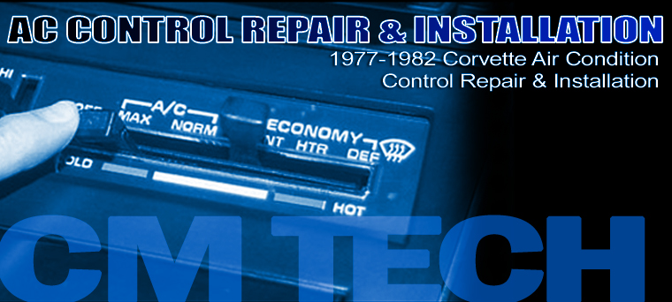 1977-1982 Corvette Air Condition Control Repair  Installation
