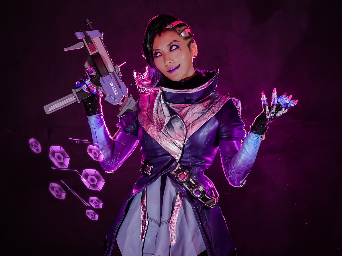 3d Wallpaper Girl And Boy Overwatch Sombra Cosplay Cosalbum