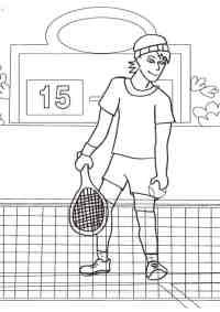 Disegni da colorare sul tennis