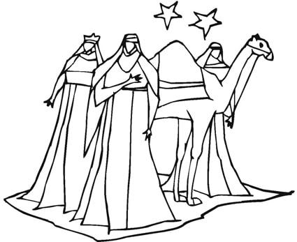 Disegno Dei Re Magi Con Un Dromedario