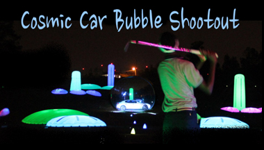 cosmic driving range car bubble shootout