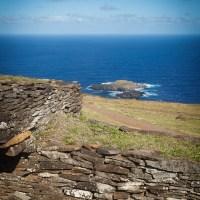 Orongo, un des centres spirituels de l'île
