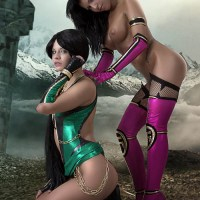 Jade vs. Mileena - Mortal Kombat