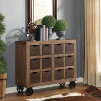 Martin Furniture Two-Tone Rustic Wooden Accent Cabinet ...