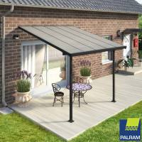 Palram Feria 3 Veranda Patio Cover, Grey in 4 Sizes ...
