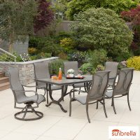 Agio Montgomery 7 Piece Sling Dining Set + Cover | Costco UK