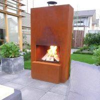 GardenMaxX Pinacate Outdoor Fireplace in Corten Steel ...