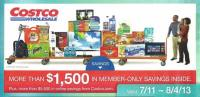 July 2013 Costco coupon book cover