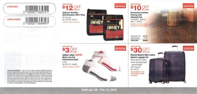 February 2016 Costco Coupon Book Page 1