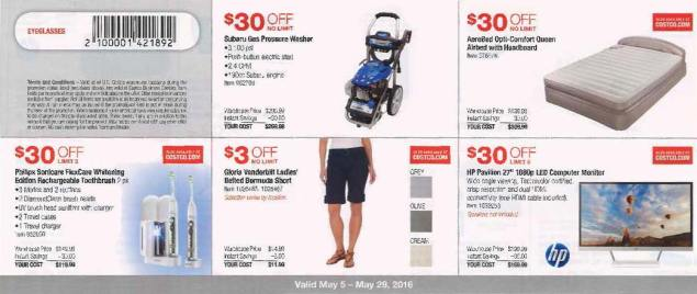 May 2016 Costco Coupon Book Page 1