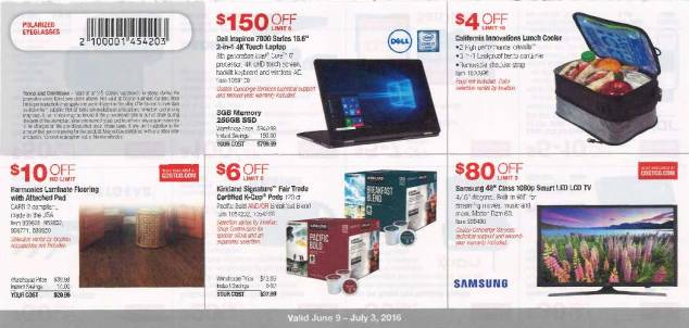 June 2016 Costco Coupon Book Page 1