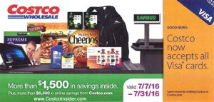 July 2016 Costco Coupon Book Cover