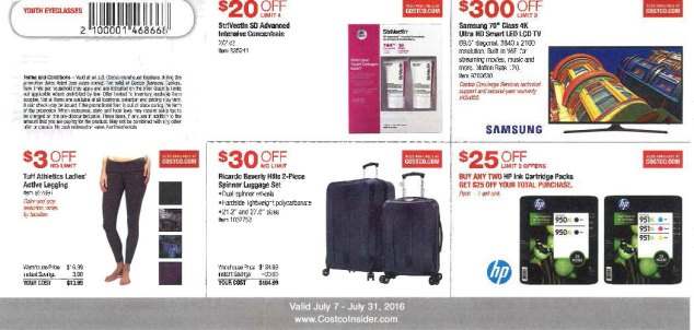 July 2016 Costco Coupon Book Page 1