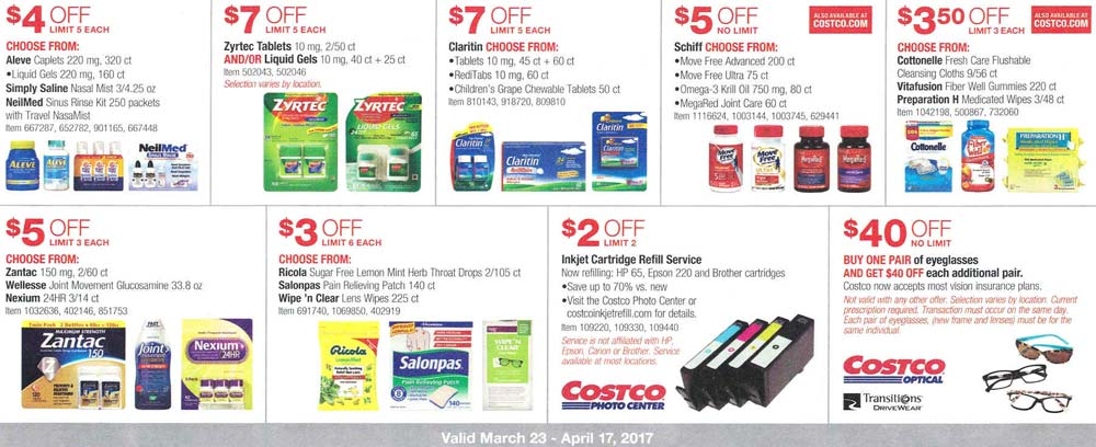 Costco March and April 2017 Coupon Book Costco Insider - coupon flyer