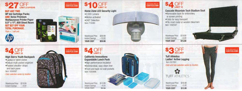 Costco July 2017 Coupon Book Page 4 Costco Insider - Coupon Book Printing