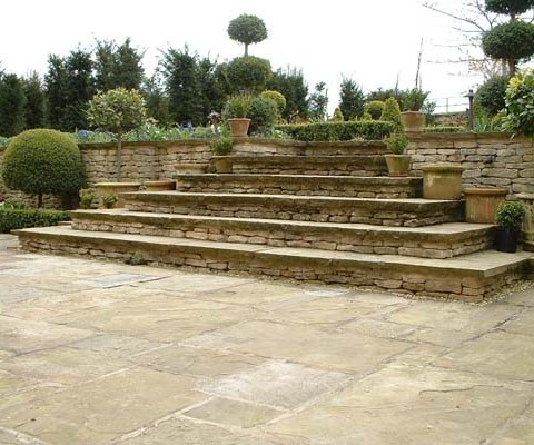 Concentric stone steps
