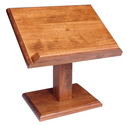 Amish Small Wooden Elevated Cookbook Book Or Bible Stand